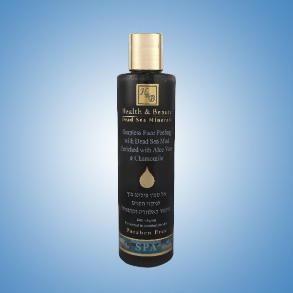 Soapless face Peeling with dead sea mud