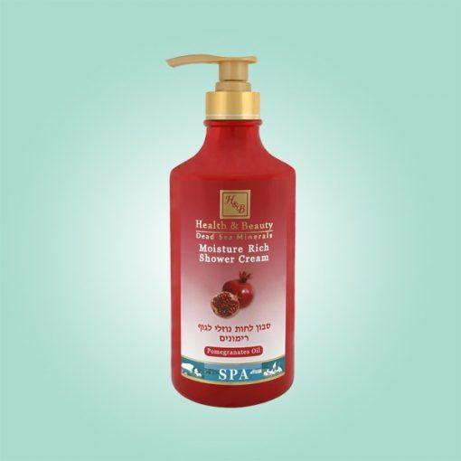 Moisture rich shower cream -pomegranates