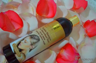 Argan oil, εκχύλισμα χαμομηλιού, εκχύλισμα Aloe Vera, έλαιο jojoba, Βιταμίνη Ε και πρωτεΐνες που αποκαθιστούν την τρίχα.
